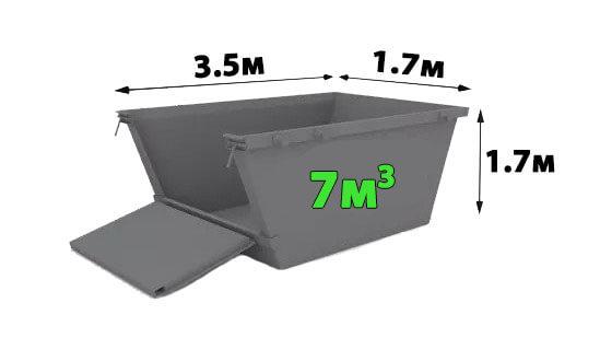 контейнер 7 кубика за извозване на стоителни отпадъци
